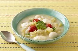 ゴロゴロ野菜とモッツァレラの食べるスープ