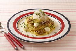モッツァレラチーズの納豆パスタ